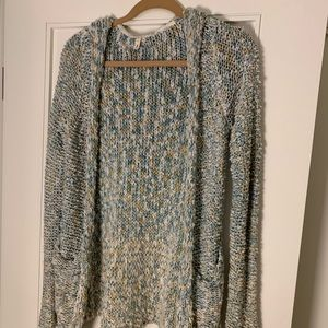 Anthropologie hooded knit cardigan